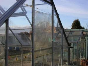 Wind Damage to Greenhouse