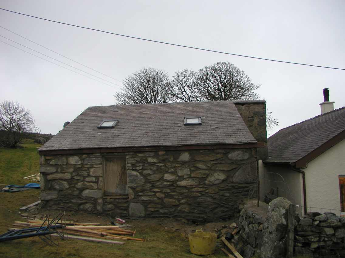 Roof finished and wall pointed