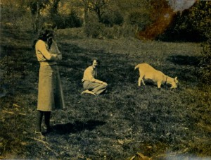 John and Val Harrison near Bocking 1976 with a goat