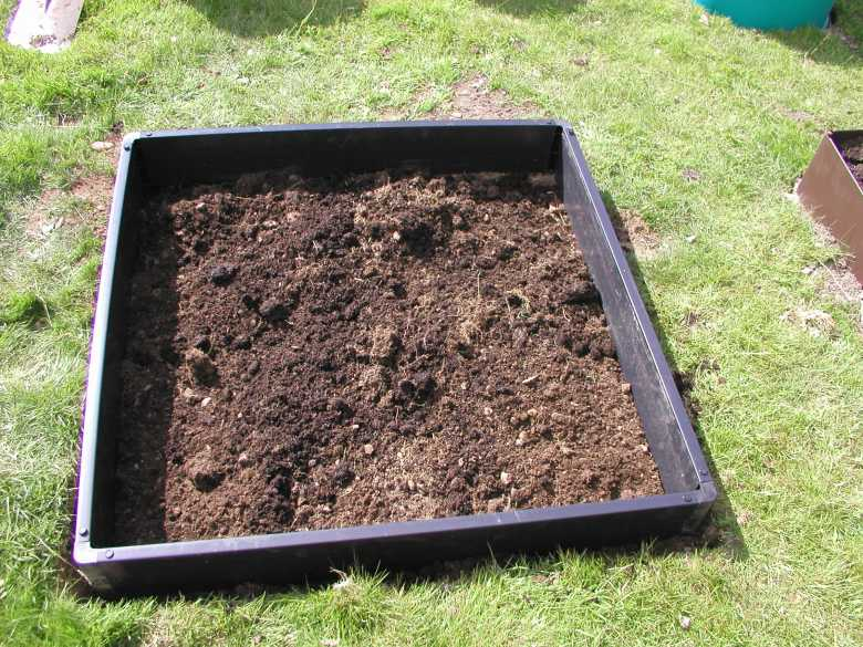 dug over raised bed