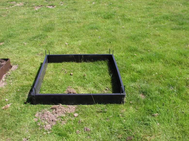 raised bed in position