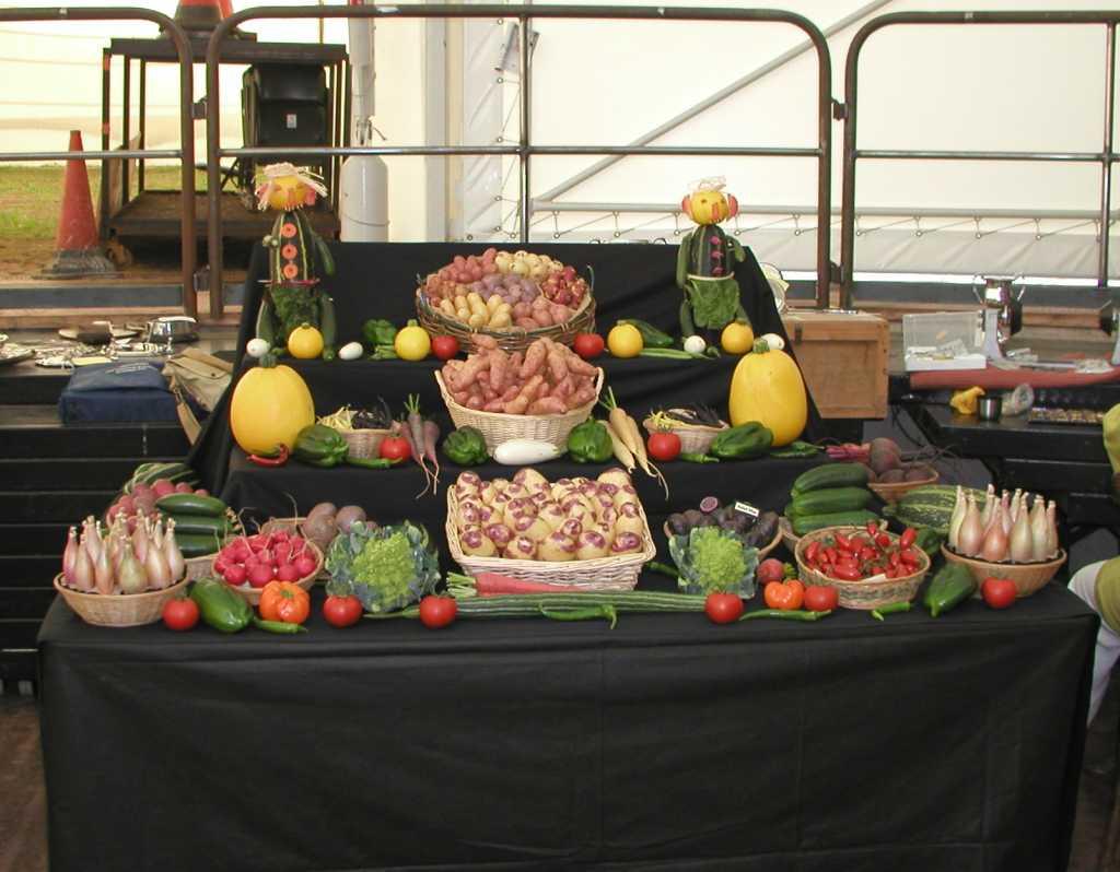 Welsh Branch Vegetable Display