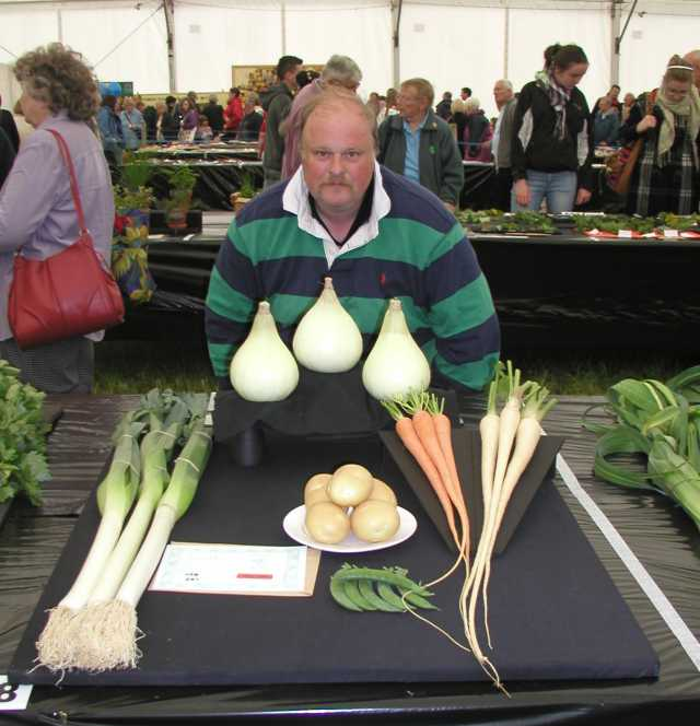 Winning Vegetable Display