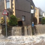 Flooding in Rhostryfan