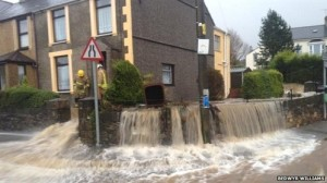 Flooding in Rhostryfan