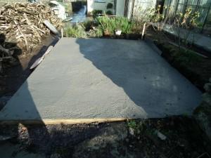 Shed Base Concrete Laid