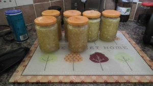 Courgette and Pineapple Jam Cooling