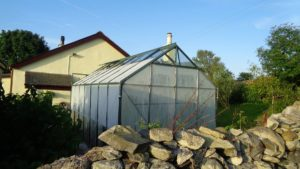 Shaded Greenhouse from rear