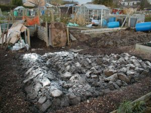 Plot Dug Over and Limed