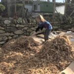 Raking Wood Chips