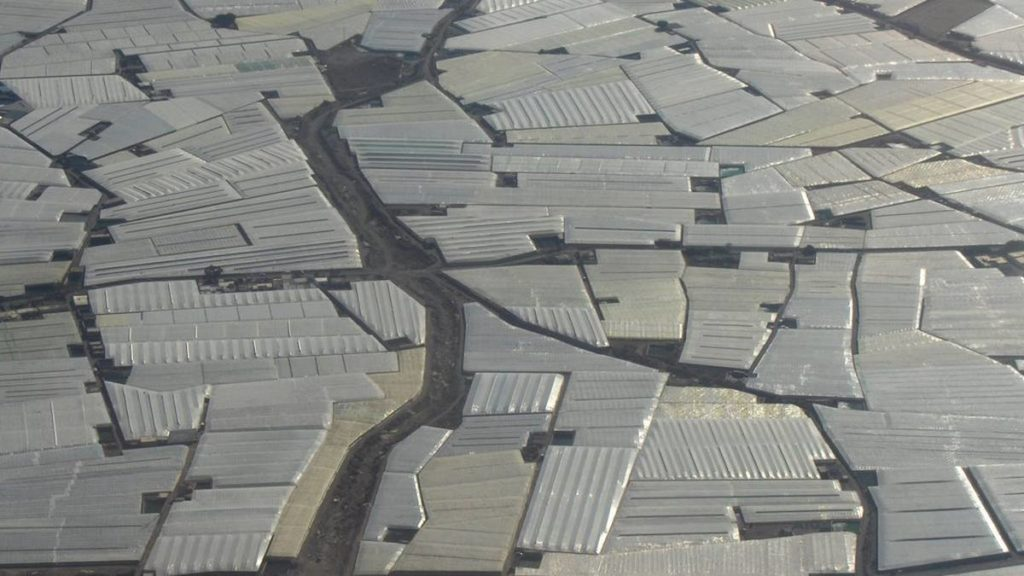 almeria greenhouses aerial view