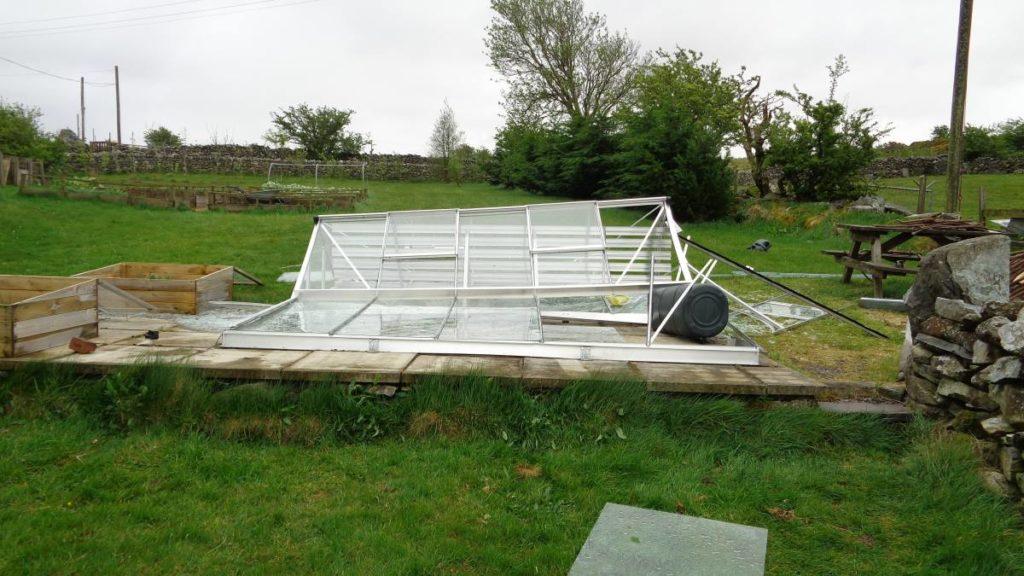 greenhouse storm damage f