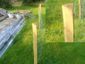 Quarter Round Fencing Poles