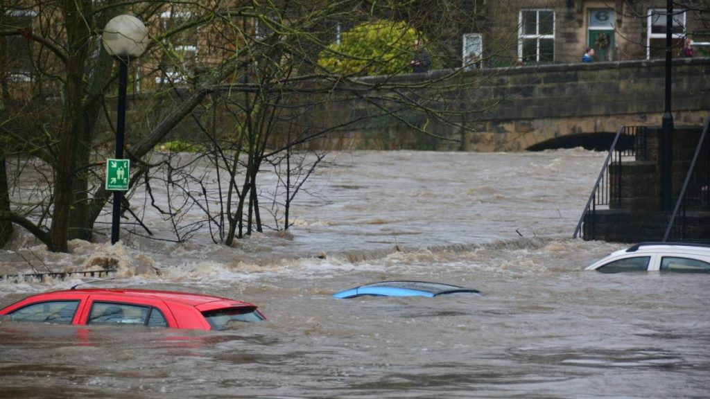 River Flooding Drowning Cars
