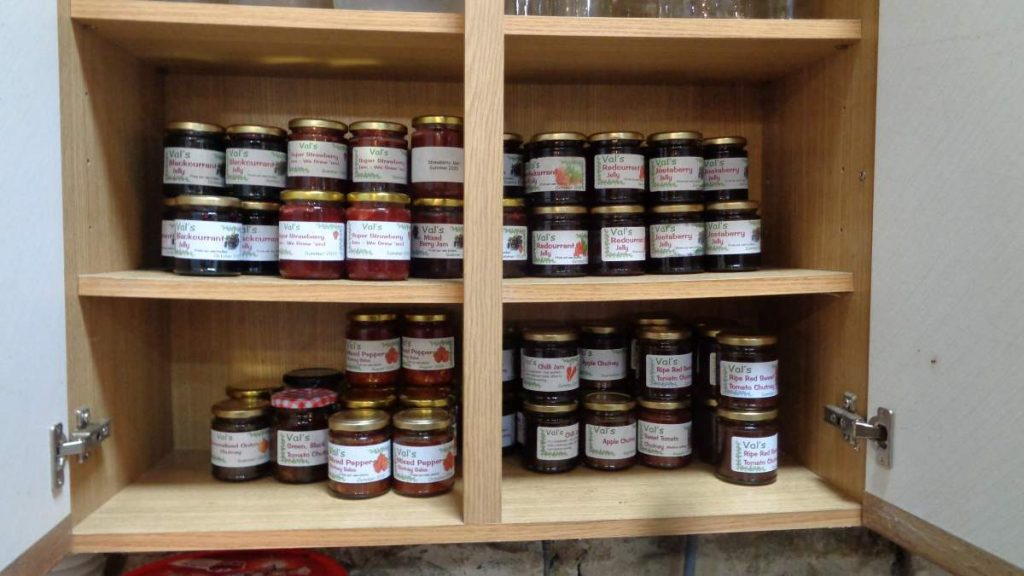 Store Cupboard full of preserves