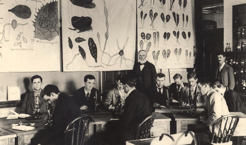 Prof. W J Beal in classroom