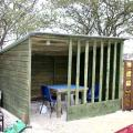 Clipstone Allotments Visit - Shelter