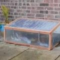Chestnut and Twinwall Polycarb Coldframe