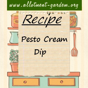 pesto cream dip