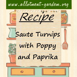 saute turnips with poppy and paprika