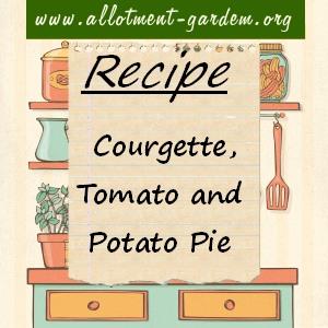 courgette, tomato and potato pie