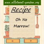 Oh No – Marrow! Recipe