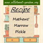 Mathews' Marrow Pickle