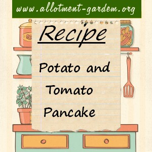 potato and tomato pancake