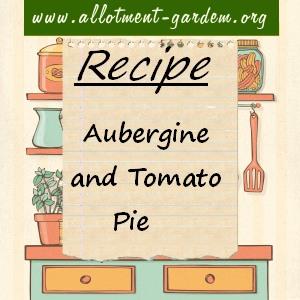 aubergine and tomato pie