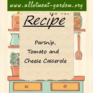 parsnip, tomato and cheese casserole