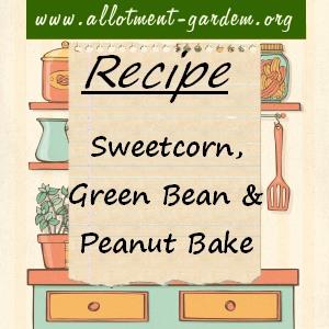 sweetcorn, green bean and peanut bake
