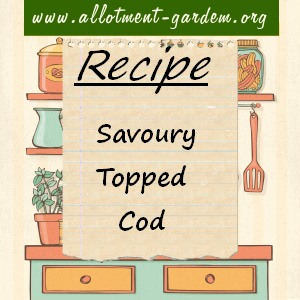 savoury topped cod