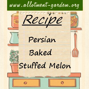 persian baked stuffed melon