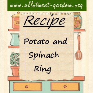 potato and spinach ring