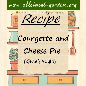 Courgette and Cheese Pie
