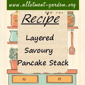 Layered Savoury Pancake Stack