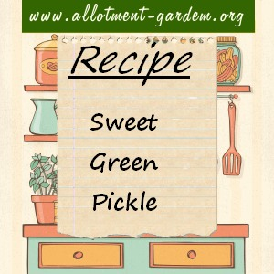 sweet green pickle