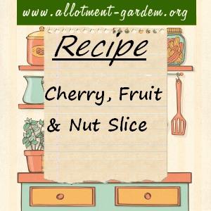 Cherry, Fruit and Nut Slice