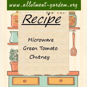 microwave green tomato chutney