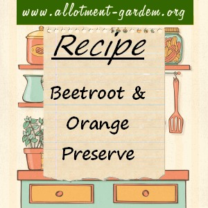 beetroot and orange preserve