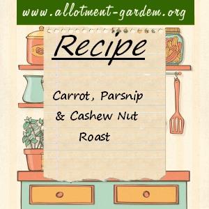 carrot parsnip cashew nut roast