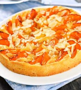 Apricot and Almond Flan Using Fleur Pastry