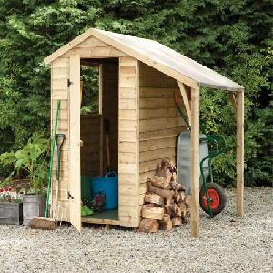 6x4 Pressure Treated Overlap Apex Shed Lean To From