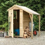 6x4 Pressure Treated Overlap Apex Shed  + Lean To