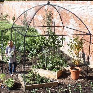 Dome Roof Decorative Steel Fruit Cage From Fruit And