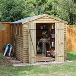 Forest 10 x 8 Pressure Treated Overlap Apex Shed