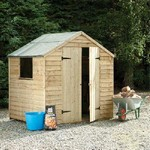 Forest 7x5 Pressure Treated  Overlap Apex Shed