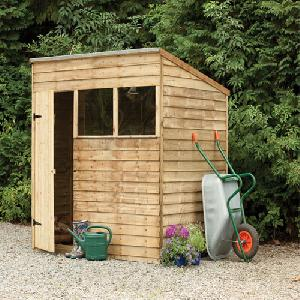 Forest 7x5 Pressure Treated Overlap Pent Shed From Garden