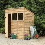 Forest 7x5 Pressure Treated Overlap Pent Shed