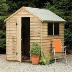Forest 8 x 6 Pressure Treated Overlap Apex Shed